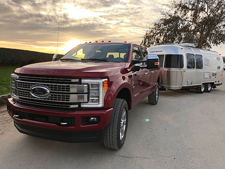 Ford F-250 towing Airstream