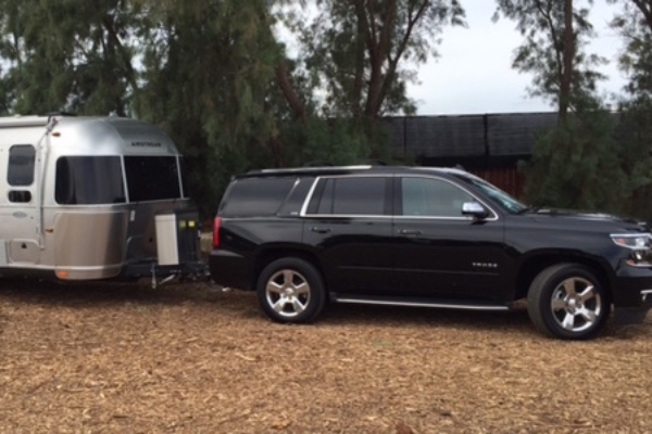 Chevy Tahoe towing Airstream