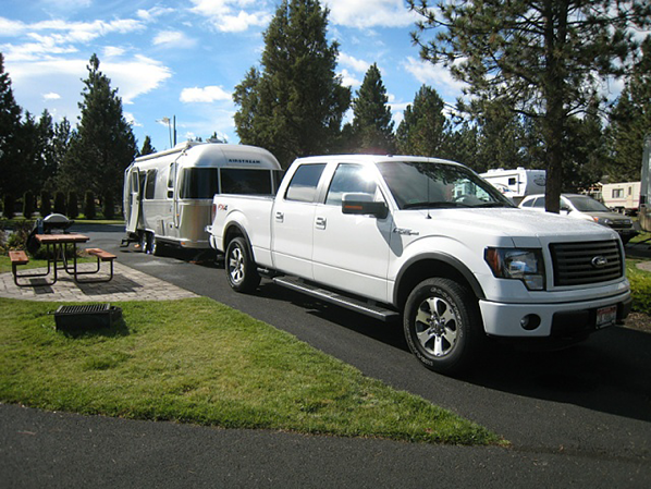 Ford F-150 towing Airstream