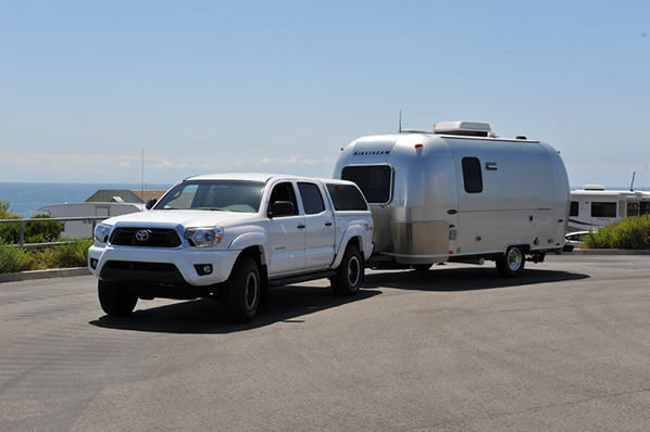 Toyota Tacoma towing Airstream