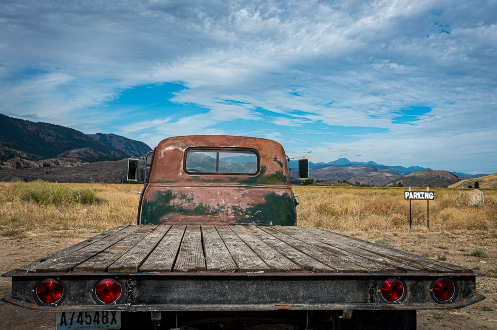 Old truck on the property